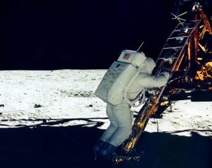 Setting Foot On Moon